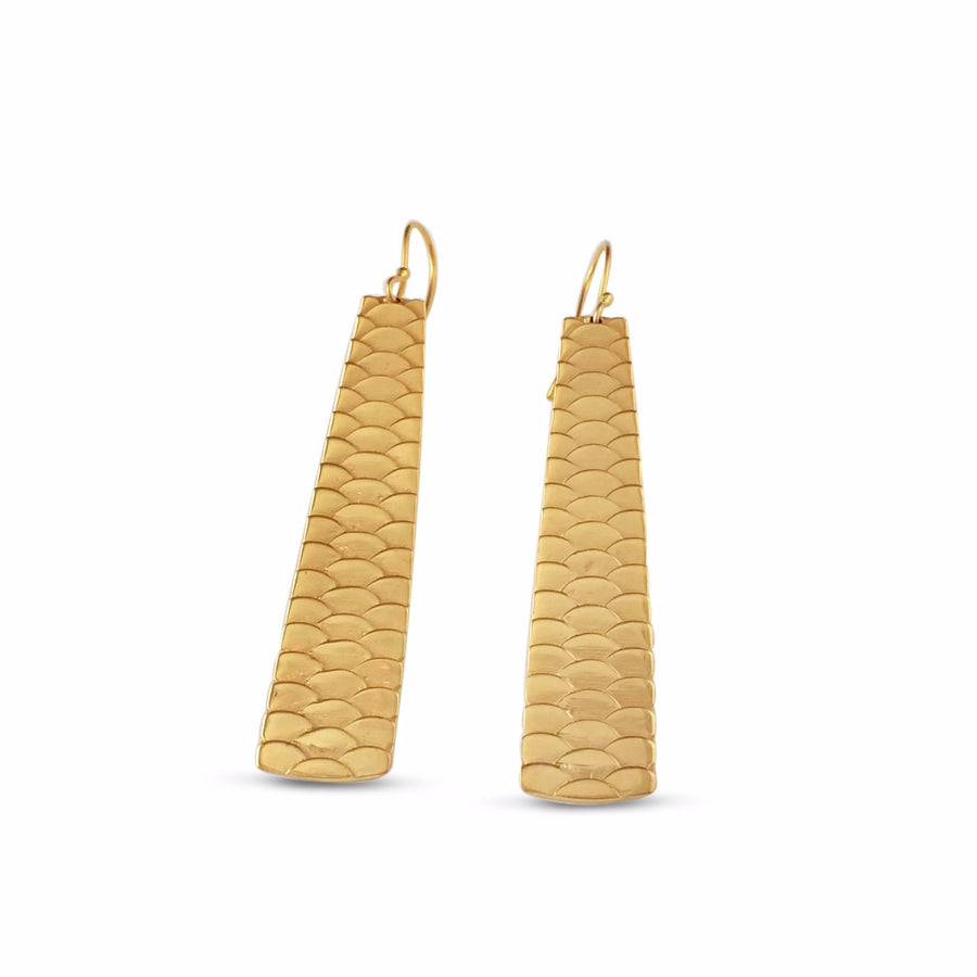 Uhu Earrings Long - Vermeil
