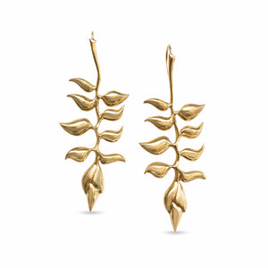 Heliconia Earrings Vermeil
