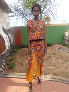 Printed skant with blouse