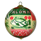 Hawaiian Quilt Christmas Ornament