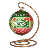 Hawaiian Christmas ornament on stand