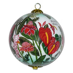 Beautiful Hawaiian Christmas ornament with tropical flowers