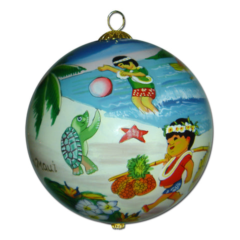 Playing Keiki Hawaii Ornament