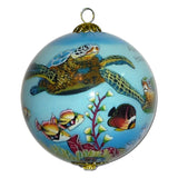 Beautiful Hawaiian Christmas ornament with honu sea turtle