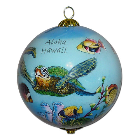 Hawaiian Fish and Turtle Ornament
