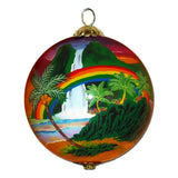 Love Blooms in Hawaii Christmas Ornament