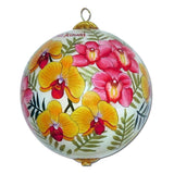 Hawaii Christmas ornament with orchids