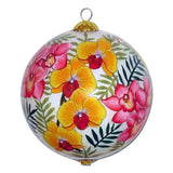 Beautiful Hawaiian ornament with lovely orchids
