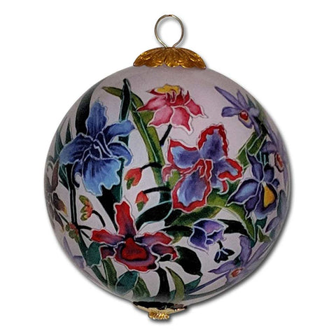 Hawaiian Christmas ornament with orchids