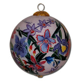Hawaiian ornament with hand painted Hawaiian orchids