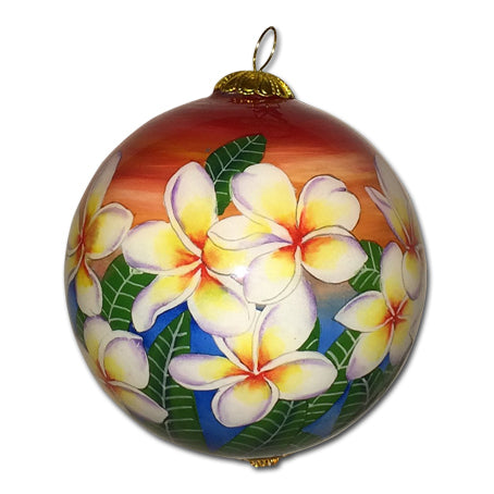 Sunset Sky Plumeria Hawaiian Ornament