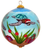 Turtle Christmas Hawaiian Ornament