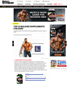 natural anabolic, epicatechin, laxogenin, bulking agent, bulking supplement, natural bulk, Anafuse, vital alchemy, muscle fatigue, increase recovery time, recovery, body building, workout