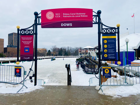 Dow's lake pavilion entrance to Rideau Canal, Where to Access the Rideau Canal SKateway, Downtown Ottawa Skating the Rideau Canal