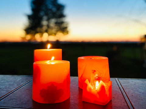 Canadian Candles for Camping, Outdoor Use Candle from Quebec