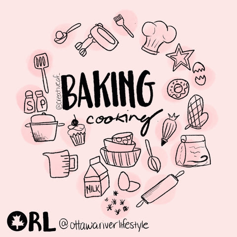 Baking and Cooking Day 30 Day Challenge Artwork Ottawa, Ontario Lockdown, Try a New Recipe