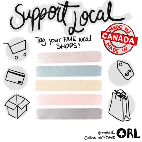 Support Local Shops in Ottawa, Local Canada Instagram Template, Favourite Local Canadian Stores