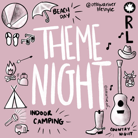 Theme Night Artwork Local Ontario Artist, Beach day at home, country night at home, lockdown challenge