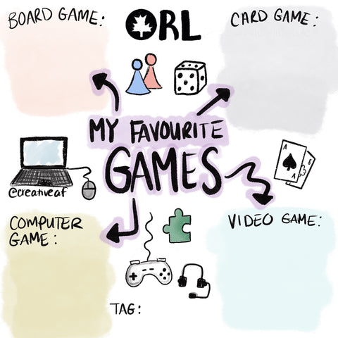 My Favourite Games Instagram Template, Video Gamer Ottawa, Local Game Suggestions, Where to Buy Board Games Ottawa