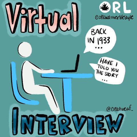 Virtual Interview / Call Your Grandparents Sketch, Ottawa Living, Ontario Lockdown