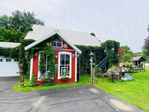 Hawk Vale Antiques and Old Stuff, what to do in Napanee Ontario, Strathcona ON, small town Ontario antique shops, road trips from Ottawa, day trips from Kingston, outdoor garden antique store, cool things to see in Napanee and Bath, Lennox Addington county shops and activities