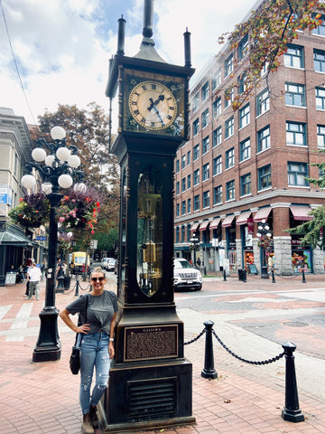 The Steam Clock in Gastown Vancouver, top landmarks and attractions in Vancouver, what to do in Vancouver, tourists guide to visiting Vancouver BC, Vancouver history and museums, where to go in Vancouver, guide to a weekend in Vancouver, the best of Vancouver British Columbia Canada, historic neighbourhood of Gastown, what to do in Gastown Vancouver