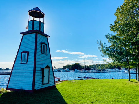 Joel Stone Park in 1000 islands, water street Gananoque, best views of St Lawrence river Gananoque Ontario, where to find the lighthouse photo stop in 1000 islands, instagram worthy photo stops 1000 islands, where is the picturesque lighthouse in Gananoque for photos, most beautiful lighthouse for pictures in 1000 islands, top waterfront photo spots Ontario, what park is the 1000 islands lighthouse in, best parks in Ontario, most beautiful small towns to visit in Ontario, what to do in 1000 islands Gananoque, review of 1000 islands attractions, best views in 1000 islands Ontario, where to get your photo taken 1000 islands Gananoque, where to take a road trip in Ontario, Ontario weekend getaways, best views of St Lawrence river, kayaking in 1000 islands, 1000 islands gananoque harbour, boating in 1000 islands