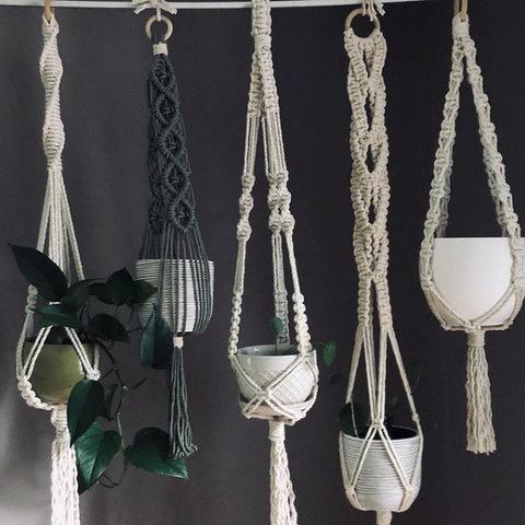 Ottawa Valley Macrame, Macrame plant hangers and wall hangings
