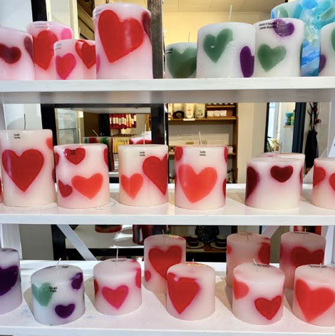 Heart Candles, Valentines Day Artisan Candles from Bougie Doozy Candle