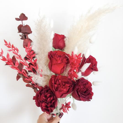 Capital Florist Dried Bouquet for Valentines Day, Florals, Boxes and Roses