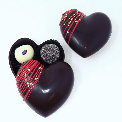 Chocolate Hearts with Truffles in Ottawa, Anna Stubbe Chocolates at Mint and Honey Gifts