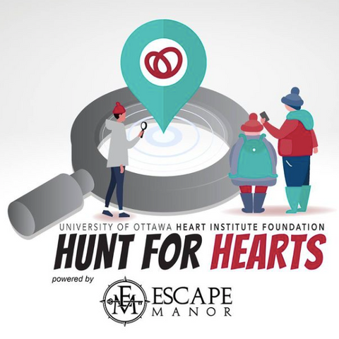 Escape Manor Hunt for Hearts Fundraiser, Ottawa Scavenger Hunt with University of Ottawa Heart Institute