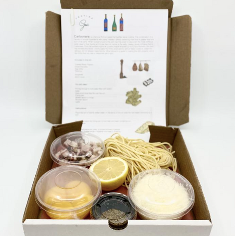 Ottawa Carbonara Pasta Kit, DIY Italian meal kit from Gia's, Cantina Gia in Ottawa at home