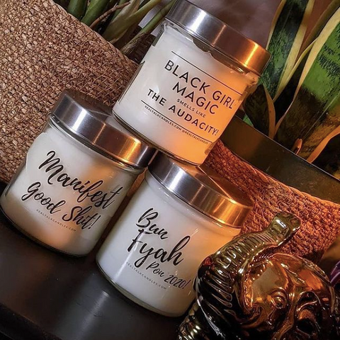 Real Talk Candles, Black owned business in Canada, Black girl magic candle, black lives matter, shop quirky controversial candles