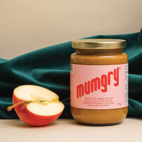 Mumgry snacks, Natural nut butters for moms, Canadian made plant based spreads, Black owned food business
