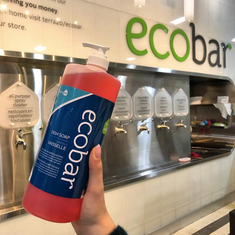 Eco bar at Terra 20, Non toxic cleaner and personal care products, Eco friendly cleaning supplies, detergents and bath and body products in Ottawa