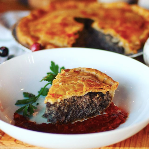 Tortiere from Red Apron, Gourmet hand made pies with local ingredients in Ottawa, Ottawa pies and meals, Baked goods and healthy meals from Red Apron, fresh and frozen pies