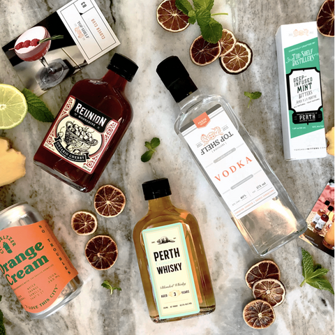 Top Shelf Distillers cocktail kit subscription box, buy mom a bartender cocktail making kit this Mother's Day, gift ideas for the cocktail loving mom, local cocktails from Perth near Ottawa, local gift ideas