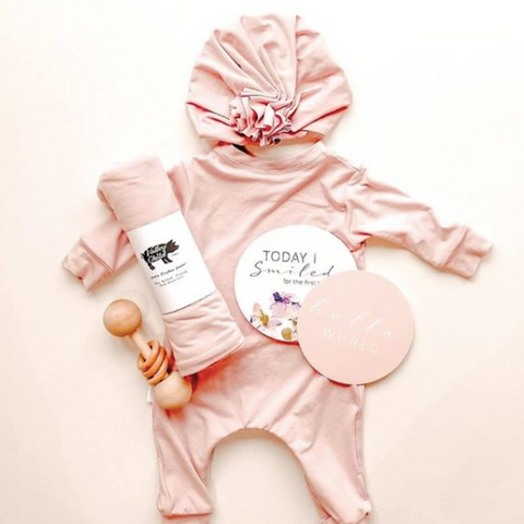 Valley Child Clothing, Romper blanket and hat for kids, baby and toddler outfits made in Canada, Canadian made children's clothing, sustainable clothes for kids made in the Ottawa Valley