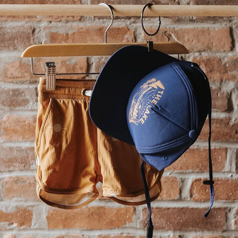 Little Buck shop for kids, children's hats and swimwear made in Ontario Canada, recycled swim suits, snapbacks beanies and bucket hats for kids and adults, clothes and accessories from baby to toddler, Ontario Canada clothing shop for children