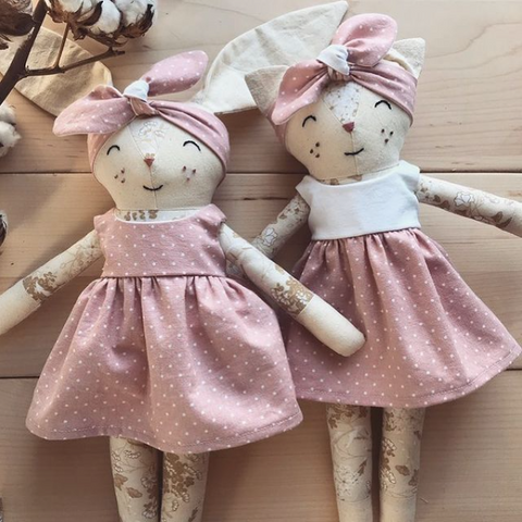 Hello Merry shop rag dolls, stuffed animals handmade in Canada, local stuffies different animals and custom outfits, toys for kids made in Canada, fabric toys for girls and boys, Ottawa Ontario toy brands