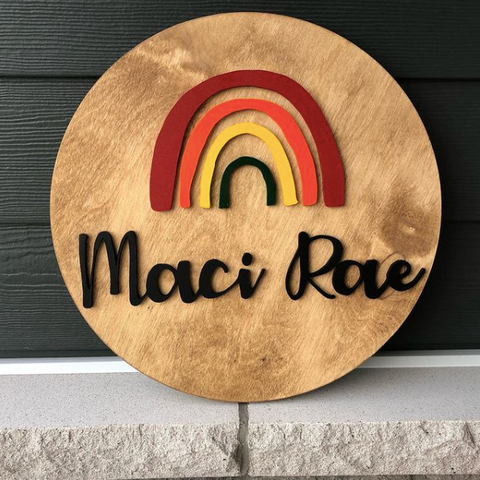 The Little Evergreen, handcrafted wooden signs in Ottawa Ontario, kids room and nursery decor ideas, custom name signs for kids, wooden growth charts made in Ottawa