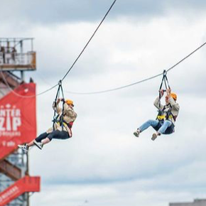 Interzip Rogers zip lining across the Ottawa River, must visit places in Ottawa, what to do in Ottawa, thrilling Ottawa adventures to do in fall and summer, what to do this month in Ottawa, Ottawa outdoor activities, interprovincial zip line