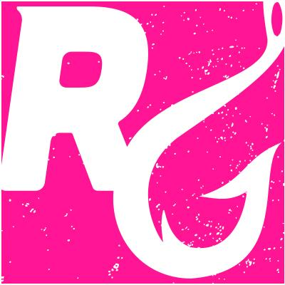 "Reel Girls 4""x4"" Waterproof Logo Decal - Hot Pink"