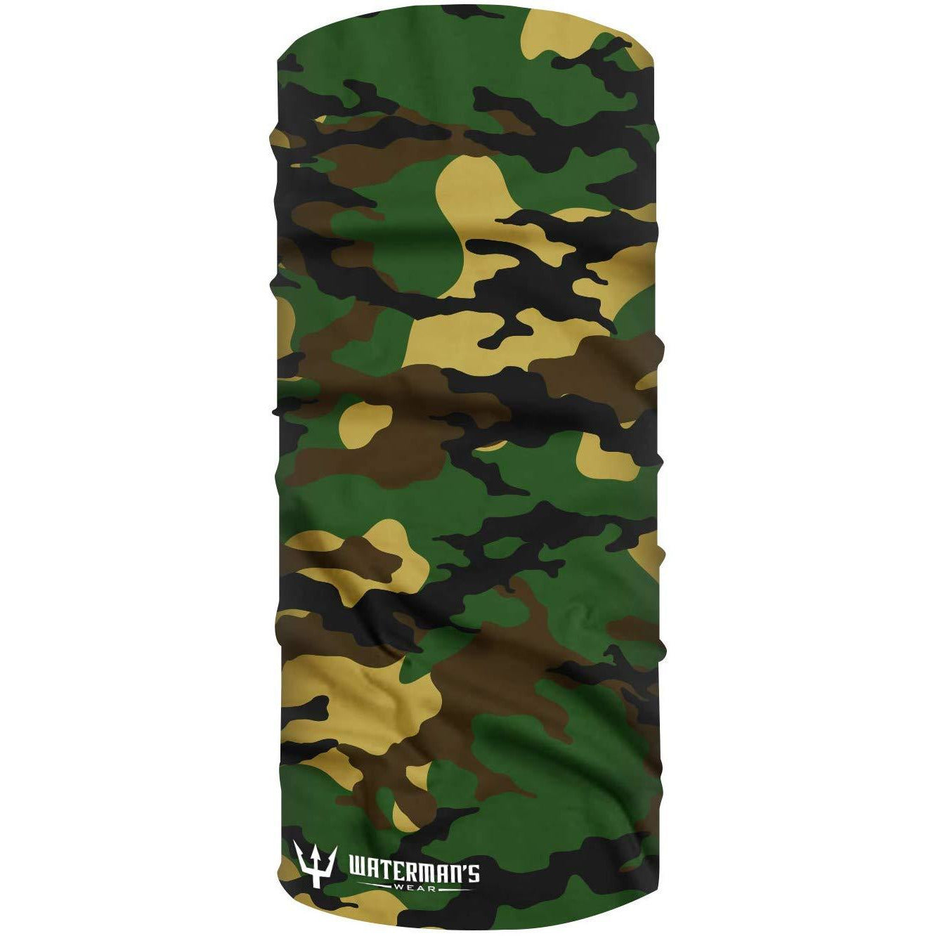 Waterman's Wear Green Multi Camo UPF50 Face Mask