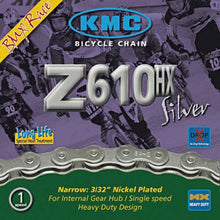 Load image into Gallery viewer, KMC - Z610 HX - Single Speed / Track Bike Chain 3/32""