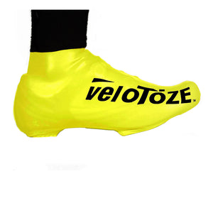 VeloToze Latex Road Bike Shoe - Oversock Shoe Cover - Short - Yellow