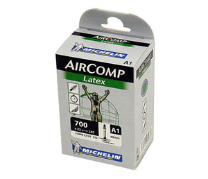 Michelin AirComp A1 LATEX Road Bike Inner Tube 700c x 22-23 Presta