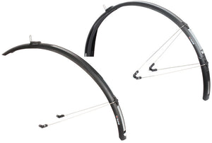 Zefal C40 Paragon Road / Racing Bike Mudguards / Set - Black