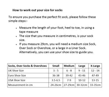 Load image into Gallery viewer, SealSkinz MTB Mid Knee - Waterproof Socks - Size Guide